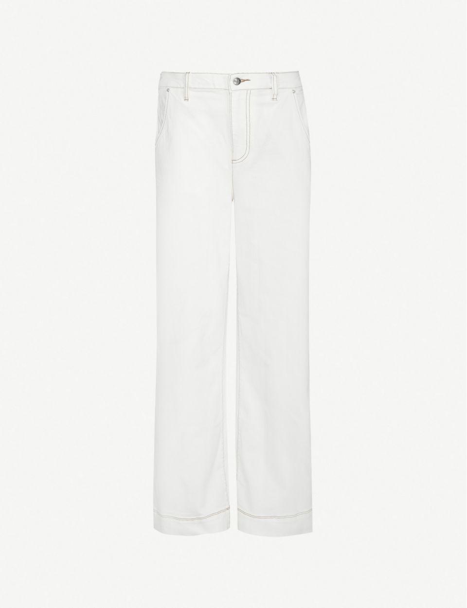 Wide-leg high-rise stretch-denim jeans
