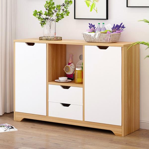 卓禾(zhuohe)厨房碗柜餐边柜欧式简易橱柜多功能客厅茶水柜子储物柜备